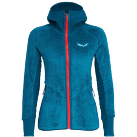 SALEWA Puez Warm PowerLite Full-Zip Hoodie Damen blue sapphire